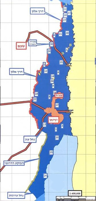 Prime Minister Netanyahu's proposal for annexation of the Jordan Valley