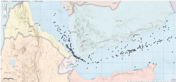 Figure 3. Map of hostile maritime events in this sector during 2010-2020 |